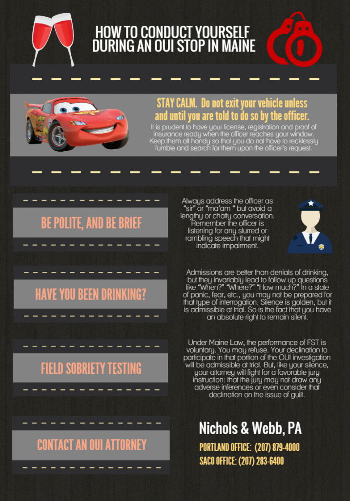 [Infographic] How to Conduct Yourself During a Maine OUI Stop